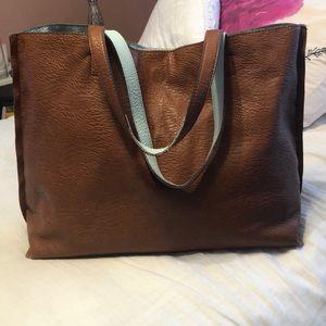 Reversible pleather bag